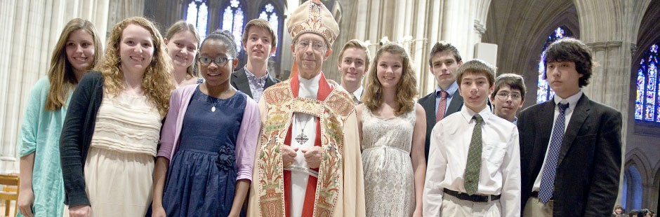 St. John's 2012 confirmation class at the National Cathedral