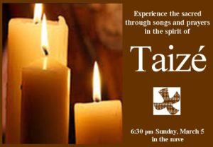 Taize ad for Crossroads