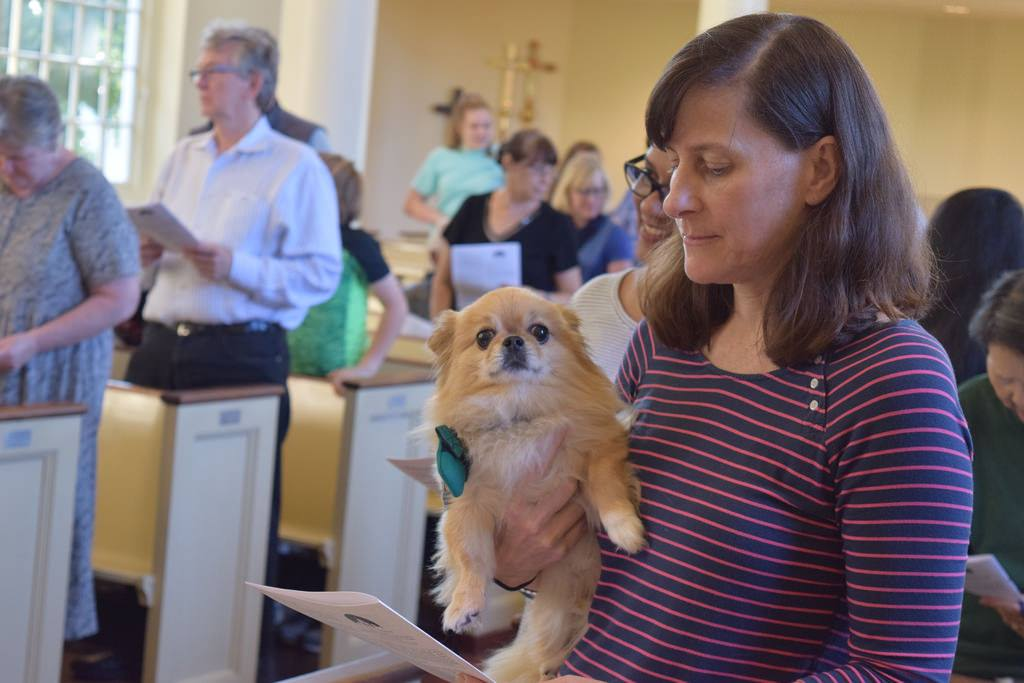 Parishioners with pets