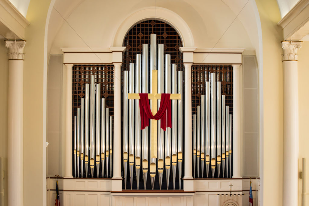 St. John's organ and cross