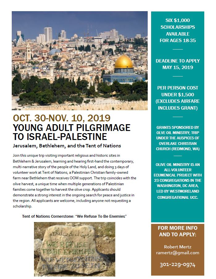 Grants for Young Adult Mission Trip to the Holy Land - St