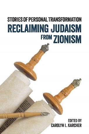 Reclaiming Judaism from Zionism poster with scroll