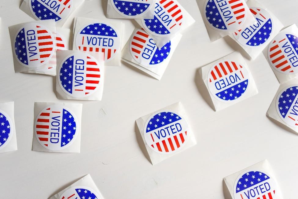"""I Voted"" americana stickers"