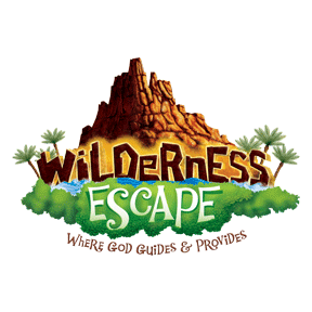 Wilderness Excape: Where God Guides and Provides set against a backdrop of a mountain