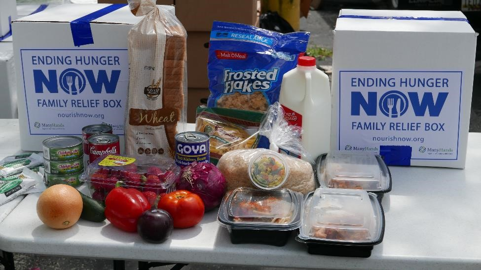 Food items included in Nourish Bethesda's food packages