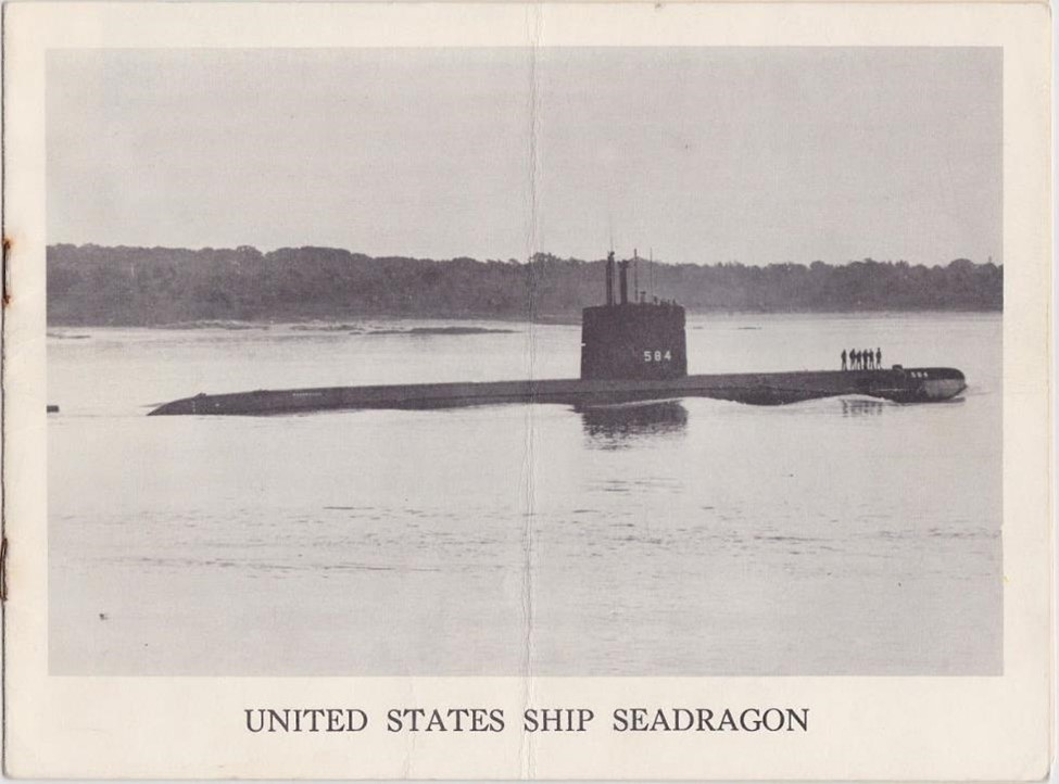A newspaper clipping of a picture of the the USS Seadragon, a nuclear submarine